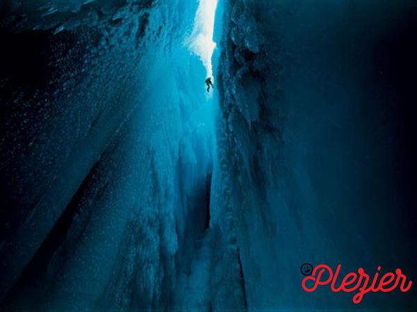 Ice Canyon in Groenland